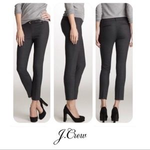 J. Crew Charcoal Wool Slim Cropped Minnie Pants